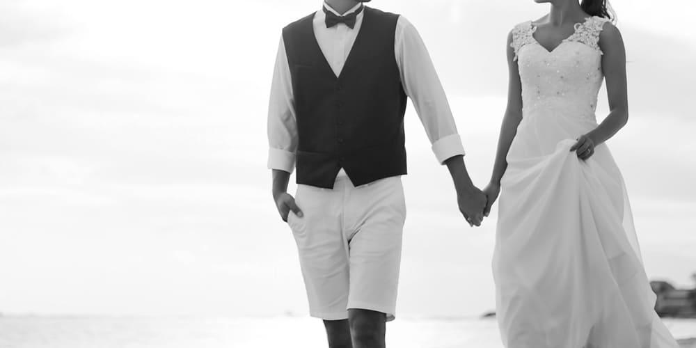結婚した二人のイメージ